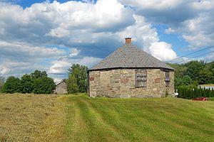 South Canaan Township, Wayne County, Pennsylvania - Octagon Stone Schoolhouse