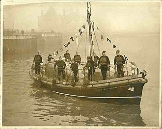 41ft Watson-class lifeboat - Image: Off liverpool docks lo res