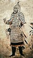 Officer of the Guard of Honour. Tomb of Princess Changle (长乐公主墓), Zhao Mausoleum, Shaanxi province. Tang Zhenguan year 17, ie 644 CE.jpg