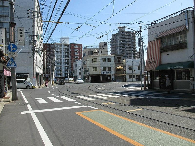 File:Okayama Electric Tramway Chunagon Tram Stop - panoramio (1).jpg
