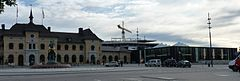 Old and New Uppsala Central station.jpg