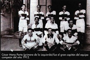 Club Olimpia - The team that won its first Primera División championship in 1912.