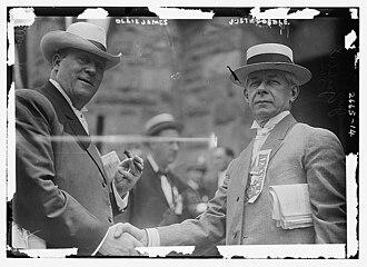 Ollie Murray James - Image: Ollie James and Justus Goebel (1912)