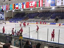 Olympic hockey game Peaks Ice Arena