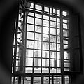Omayaden moskee, uitzicht door een getralied raam op het voorplein, Bestanddeelnr 255-5894.jpg