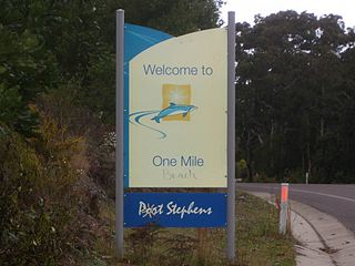 One Mile, New South Wales Suburb of Port Stephens Council, New South Wales, Australia