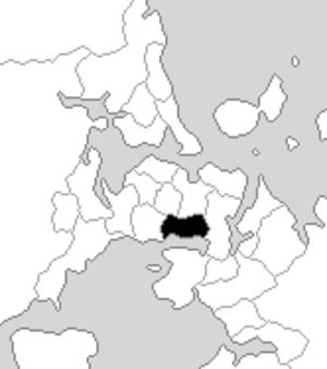 Onehunga (New Zealand electorate) - Onehunga electorate boundaries between 1993 and 1996.