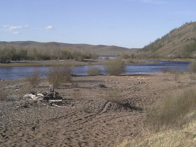 Autumn at the Onon River, Mongolia, the region where Temüjin was born and grew up.