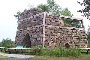 National Register of Historic Places listings in Alger County, Michigan - Image: Onota Bay Furnace