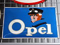 Opel, enamel advertising sign.JPG