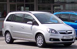 Segunda generación del Opel Zafira (El Chevrolet Zafira es casi igual)