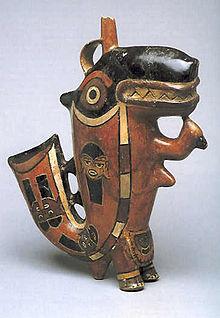 Killer Whale, Nasca Culture, pottery, Larco Museum. Lima, Perú.