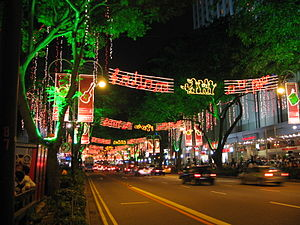 Singapore Orchard Road is lit up every year du...