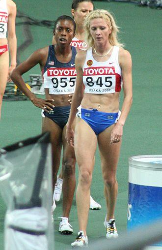 Yelena Soboleva - Soboleva at the 2007 World Championships in Athletics