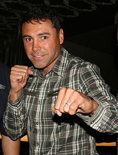 Oscar De La Hoya American boxer