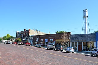 Oskaloosa, Kansas - Business district of Oskaloosa (2014)