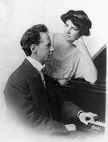 Russian-born American composer, pianist, and conductor Ossip Gabrilowitsch (1878-1936) with his wife Clara Clemens (1874-1962), daughter of Samuel Clemens (Mark Twain)