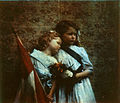Otto Pfenninger, Two children leaning together, three quarter length, holding Union flag (1910)-c.jpg