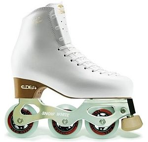Inline figure skating - Snow White Inline Figure Skate