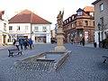 Písek, Havlíčkovo náměstí, svatý Florián, pohled k Nerudově.jpg