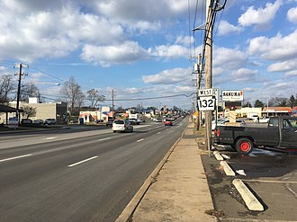 Pennsylvania Route 132 - PA 132 westbound past the PA 513 intersection in Bensalem Township