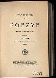 Maria Konopnicka: Poezye