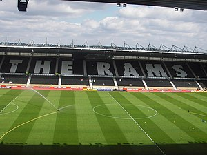Pride Park Stadium - The East Stand.