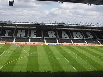 Pride Park Stadium - The East Stand.