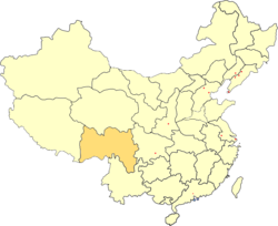 Location of Xikang