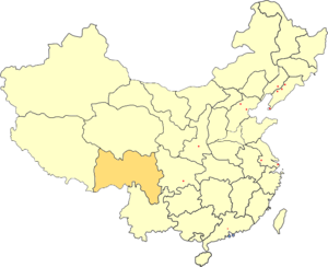 Xikang - Xikang Province (orange) in the People's Republic of China