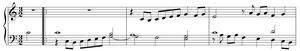 Erster Theil etlicher Choräle - First bars of Nun lob, mein Seel', den Herren.