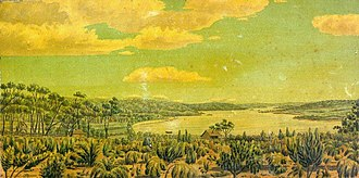 Augusta, Western Australia - Painting of Augusta by Thomas Turner, 1830s.