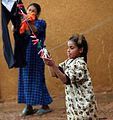 Palestinian Iraqi IDP girls with clothesline.jpg