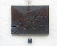 Pamětní deska, Stanislav Velehrach - Brno.jpg