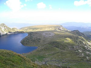 "Religion in Bulgaria - Members of the Universal White Brotherhood, a Hermetic/Theosophical religious organisation founded in Bulgaria itself, practising ""paneurhythmy"" at the Seven Rila Lakes."