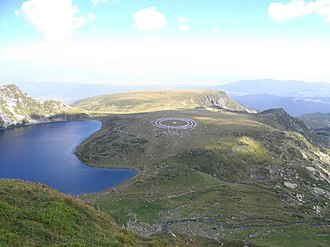 """Religion in Bulgaria - Members of the Universal White Brotherhood, a Hermetic/Theosophical religious organisation founded in Bulgaria itself, practising """"paneurhythmy"""" at the Seven Rila Lakes."""