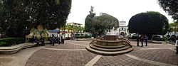 Panorama of Central Plaza of Guaynabo, Puerto Rico.JPG
