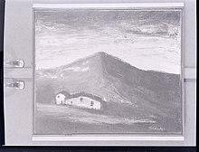 Opera di Sironi fotografata da Paolo Monti