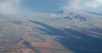 Hamersley Range - Paraburdoo and the Hamersley Range from the air