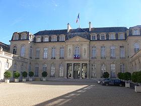 L'entrée du palais de l'Élysée.