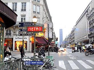 Saint-Sulpice (Paris Métro) - Image: Paris Saint Sulpice Metro 280109