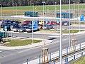 Parking lot Train station NALB Allersberg DE 2007-02-16.jpg