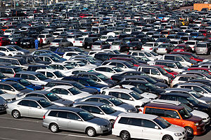 Auto auction - Parking lot at HAA Kobe