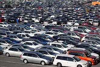 Auto auction - Parking lot at HAA Kobe