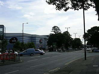 A34 road - Kingsway in Manchester where the A34 nears the end of its route.