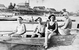 Szeged - Swimmers at Szeged, 1939
