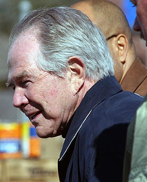 Pat Robertson - Robertson during an Operation Blessing International appearance at Victory Fellowship Church in Metairie, Louisiana, providing relief to Hurricane Katrina victims (February 12, 2006)