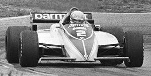 Brabham BT50 - Image: Patrese at 1982 Dutch Grand Prix crop