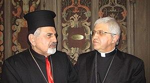 Ignatius Joseph III Yonan - Image: Patriarch Ignatius Yonan and Bishop Malvestiti