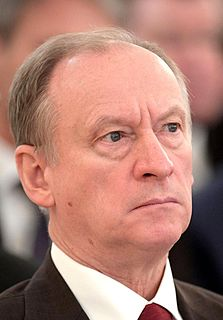 Nikolai Patrushev Secretary of the Security Council of Russia from 2008